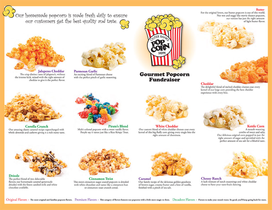 Fundraisers What to earn money for you school, organization or charity quickly and easily? Our popcorn fundraiser will be perfect for you!  You get 50% PROFIT on every single item sold!