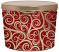 2 Gallon Christmas Swirls Popcorn Tin