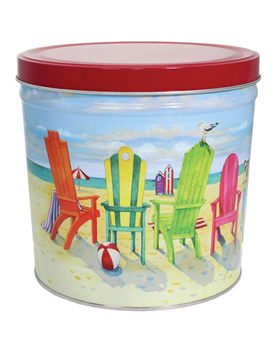 2 Gallon Beach Chair Gift Tin