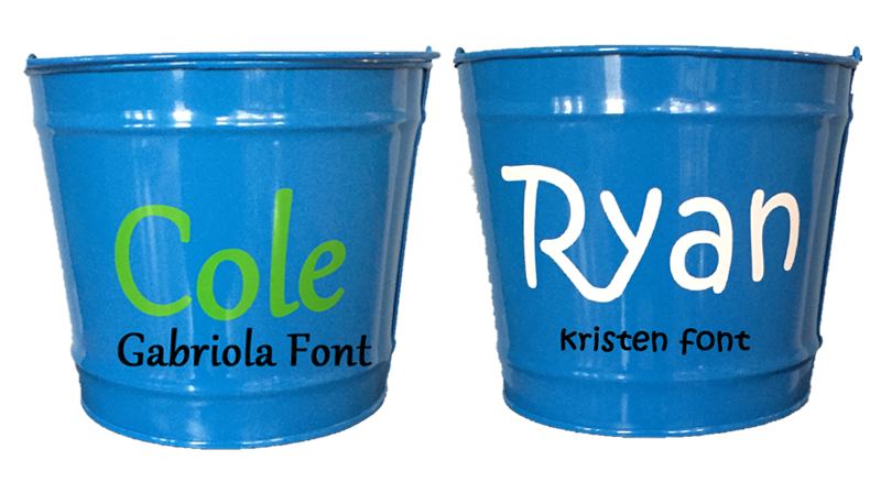 Monogram Your Bucket Choose Font Style