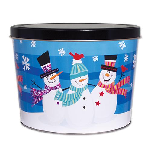 2 Gallon 3 Snowman Tin