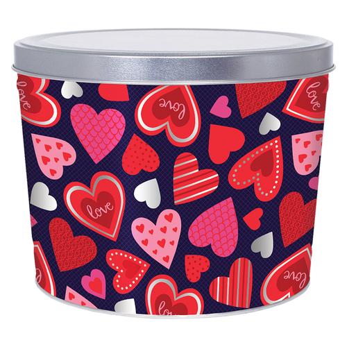 2 Gallon Happy Hearts Tin