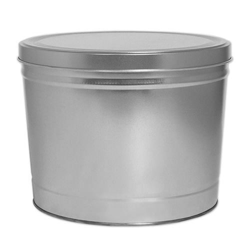 2 Gallon Silver Tin