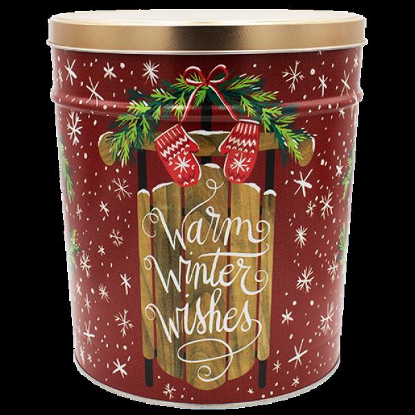 3 Gallon Warm Winter Wishes Tin