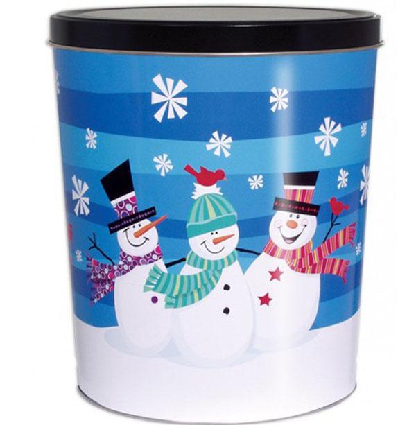 3 Gallon 3 Snowmen Tin