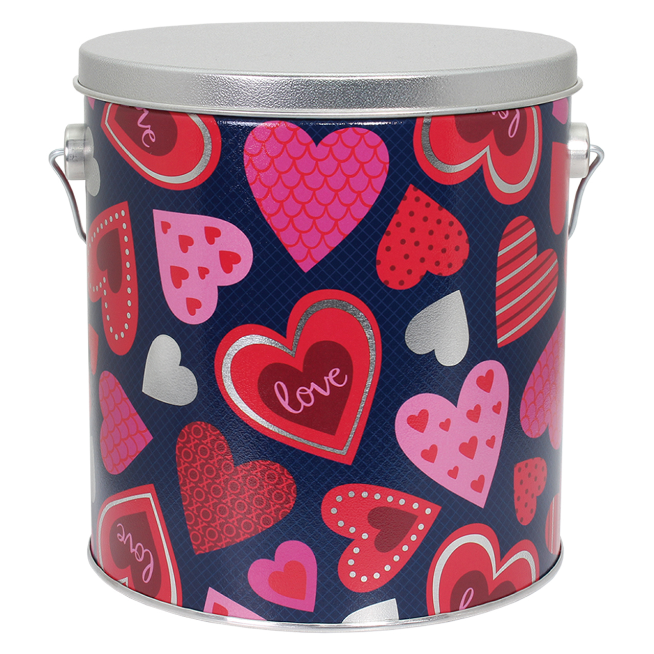 1 Gallon Happy Hearts Tin