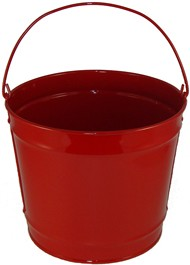 2 Gallon Red Bucket