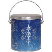 1 Gallon Snowflake Tin