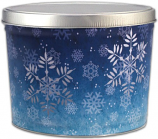 2 Gallon Snowflake Tin