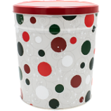 3 Gallon Jolly Dots Tin