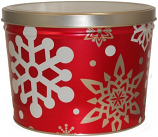 2 Gallon Let it Snow Tin