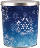 3 Gallon Snowflake Tin