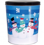 3 Gallon 3 Snowmen Tin