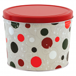 2 Gallon Jolly Dots Tin