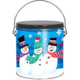 1 Gallon 3 Snowmen Tin