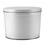 2 Gallon White Tin